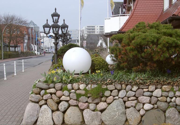 Friesenmauer Naturstein eiszeitliche Findlinge Westerland Sylt